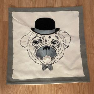 🎉HP🎉Pug with a top hat stitched pillow sham